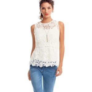 CAbi Needle Lace Shell Small
